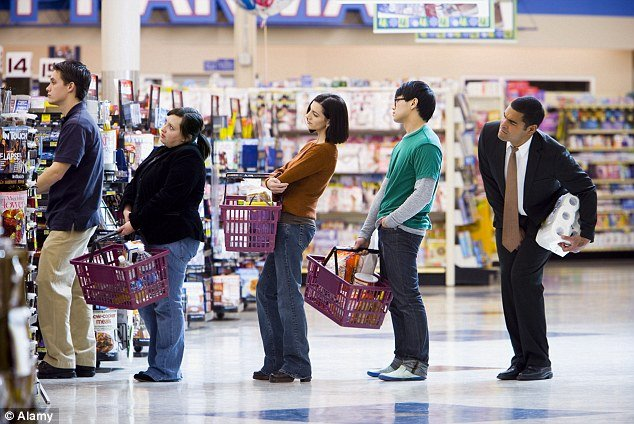 Retail Mall Long Queue